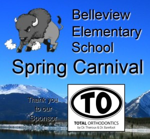 Belleview Elementary Spring Carnival Logo